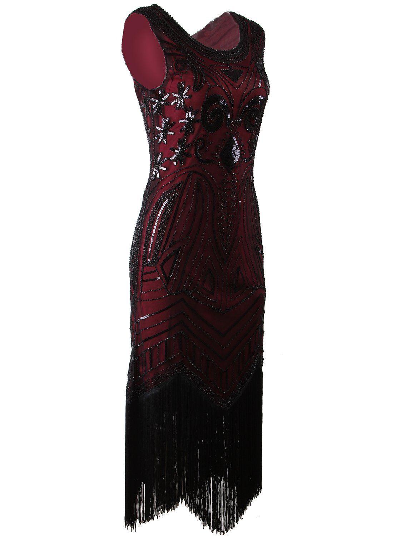 Amazon vijiv long prom us vintage gatsby bead sequin art