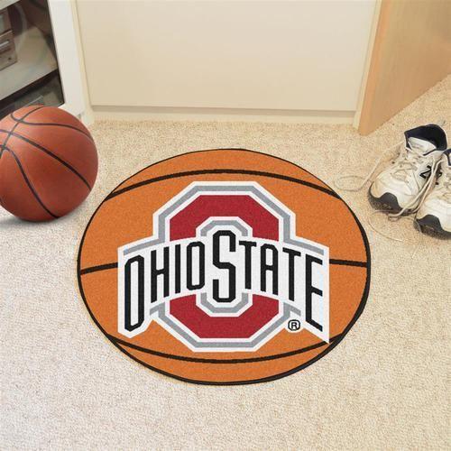 Ohio State University Buckeyes Basketball Floor Rug Mat