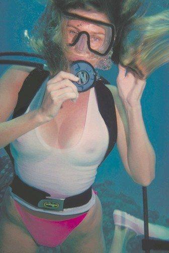 Wild milf underwater