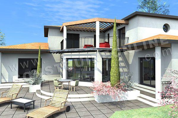 modèle Areva - vue arrière House plans Pinterest Architecture