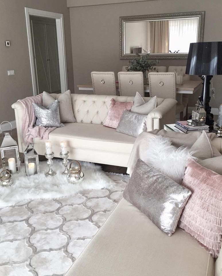 Pin by Aixa Medina on Home Decor  Glamour living room, Living