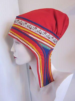 Vtg LAPLAND Lapp SAMI Women s BONNET Hat WOOL Saami GAKTI Sweden FINLAND  Norway 8 1eaf0037a5f