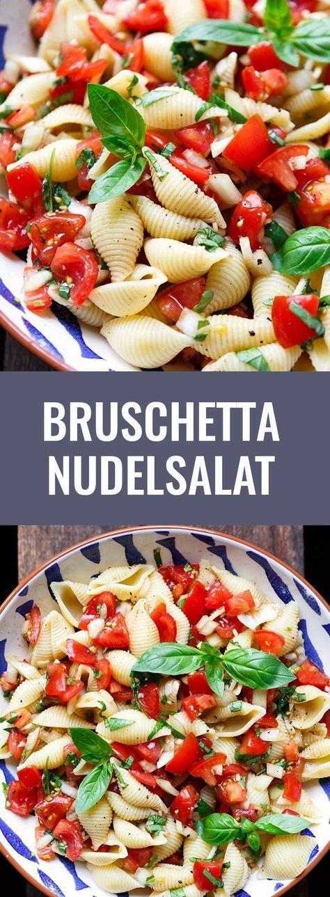 Bruschetta Nudelsalat #vejetaryentarifleri