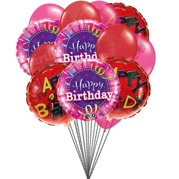 Cheering Birthday Balloons 6 Mylar Latex Send Colourful To Someone Special For The Occassion Of His Life