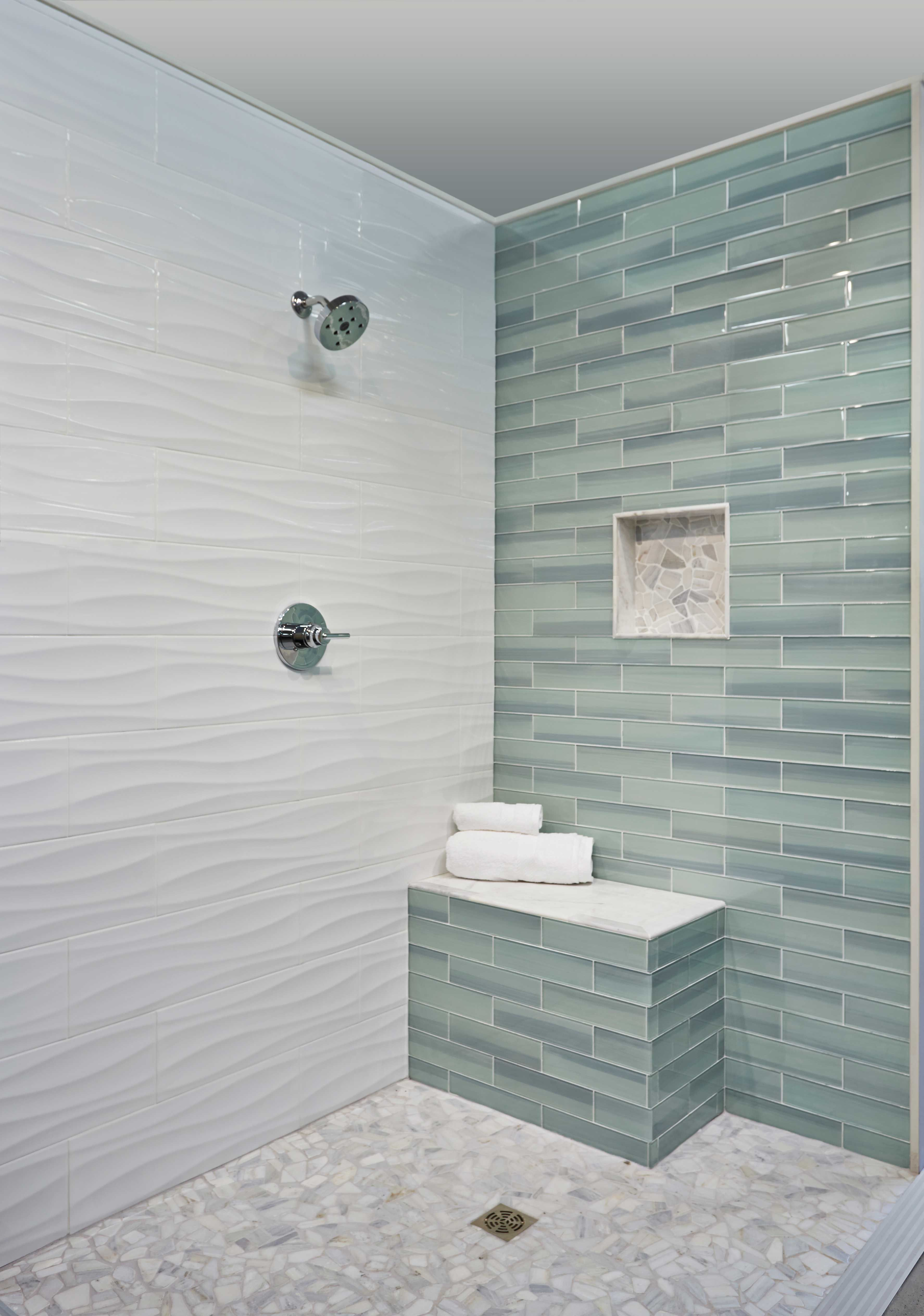How to do wall tile in bathroom - Bathroom Shower Wall Tile New Haven Glass Subway Tile Https Www