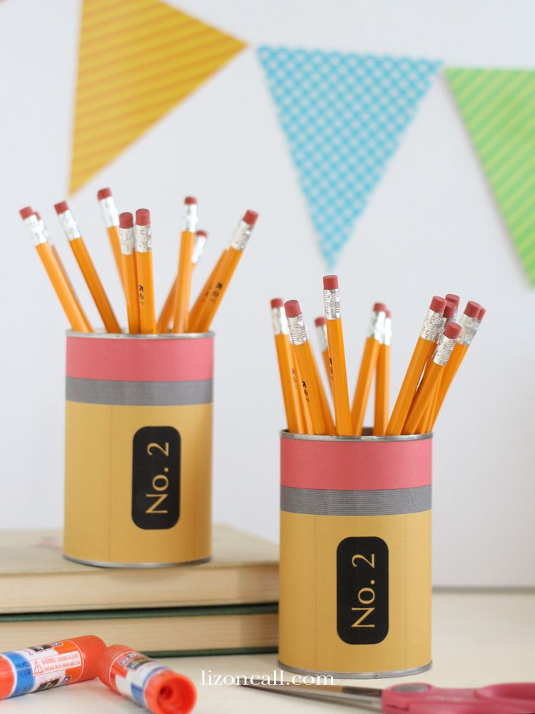 Back to School Teacher Gift - Pencil Holder | Pencil ...