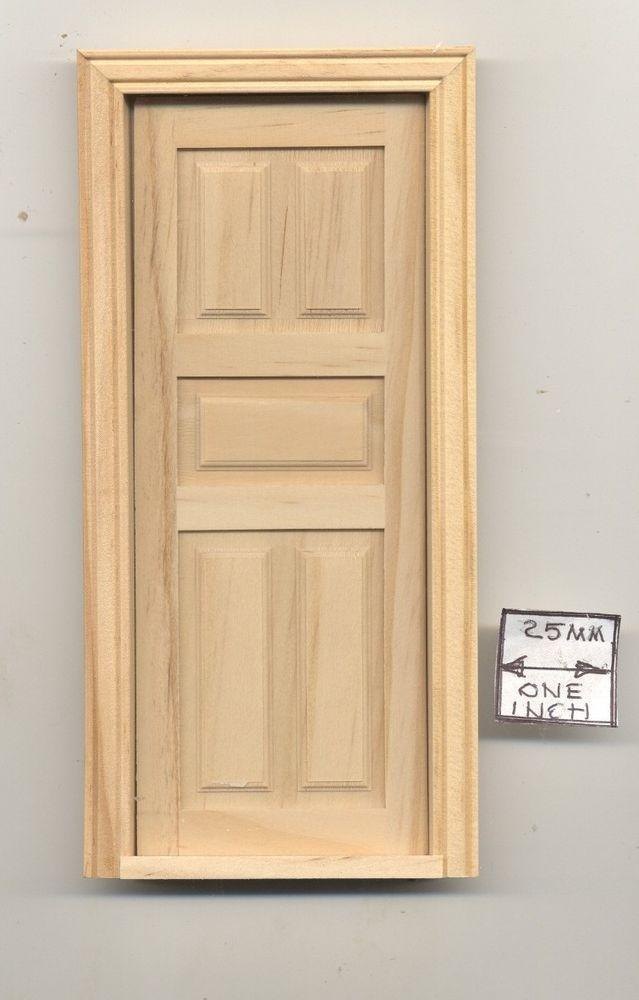 Door 5 Panel Interior Dollhouse Miniature Wooden 6008 1 12 Scale Houseworks Interior Door Hinges Housework Classic Interior