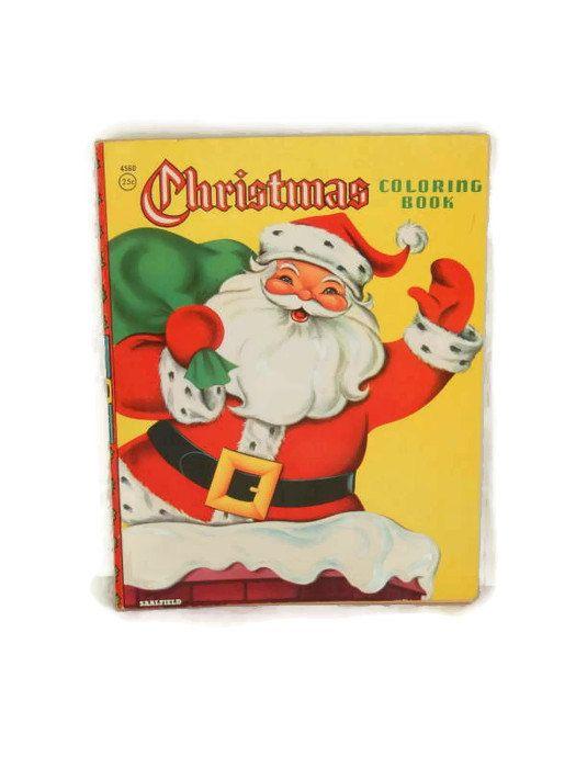Vintage Christmas Coloring Book 1960's Saalfield by @LeasAtticSpace