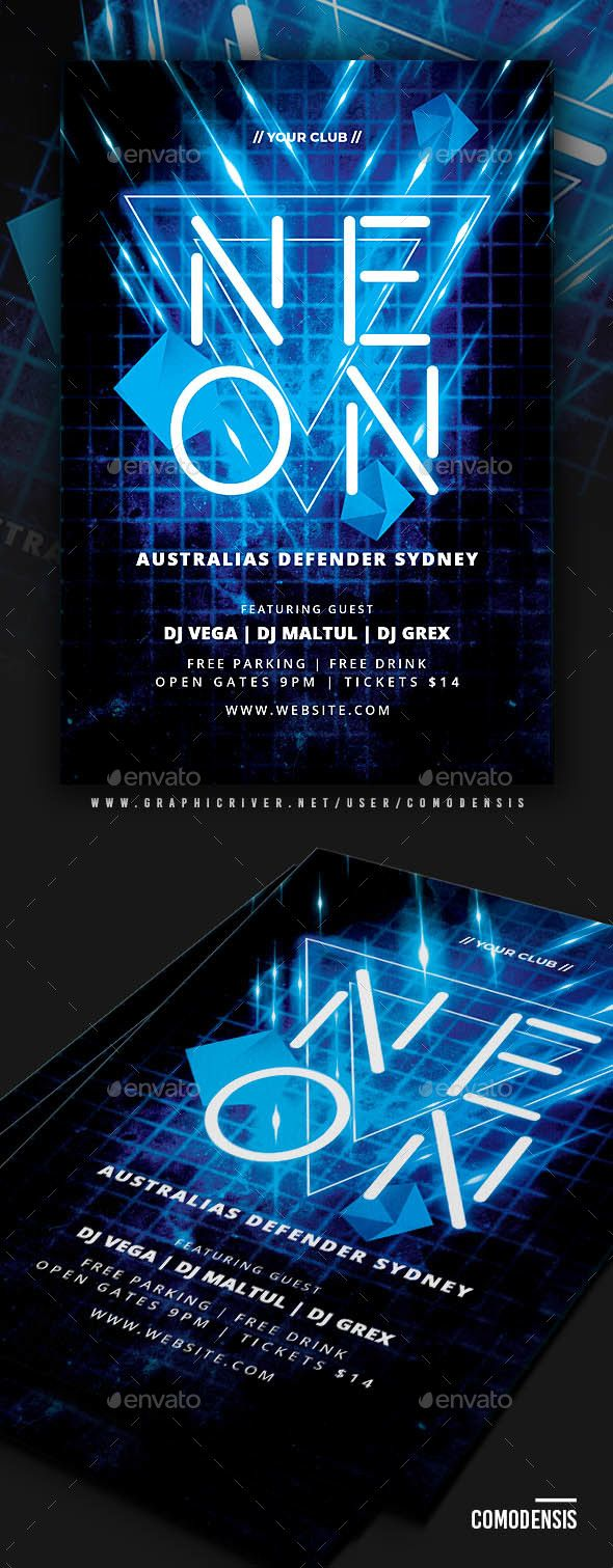 Neon Party Flyer | Pinterest | Neon party, Party flyer and Flyer ...
