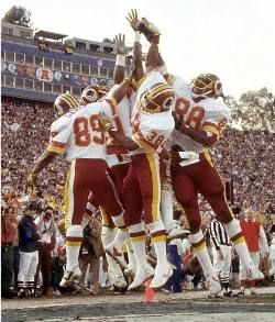 Redskins Fun Bunch - old school 80 s style football  44eaadc08