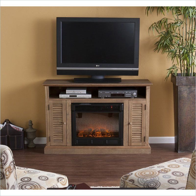 Holly Martin Savannah Media Electric Fireplace In Weathered Oak