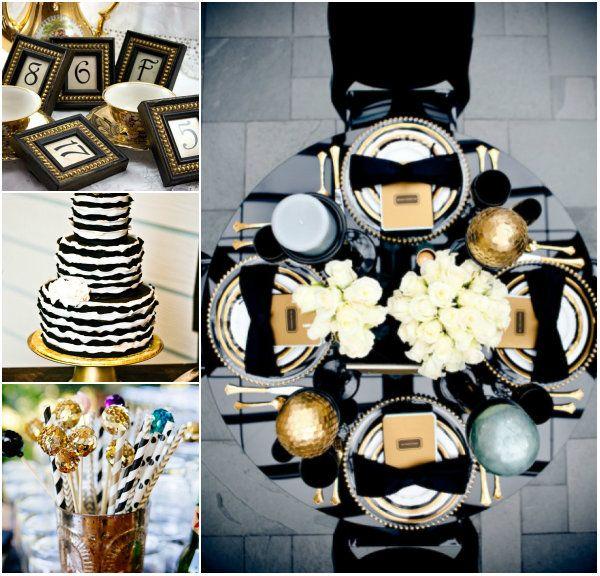 schwarz und golden hochzeit im winter deutschland tischdeko 2014 schwarz golden wei. Black Bedroom Furniture Sets. Home Design Ideas