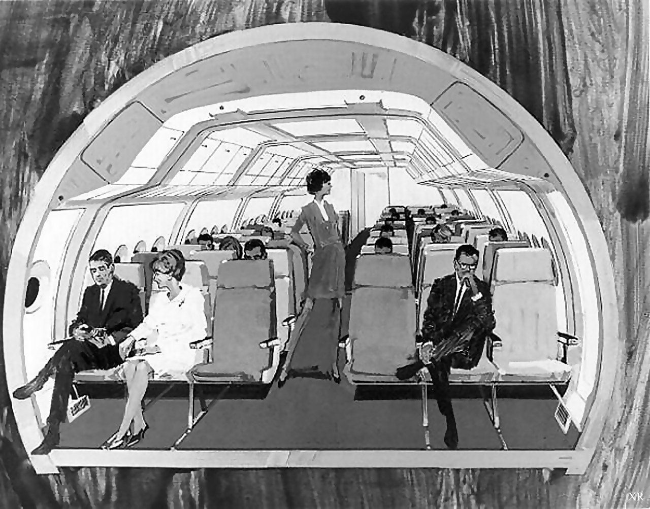 Plane cross-section | Boeing, Airplane interior, Military ...