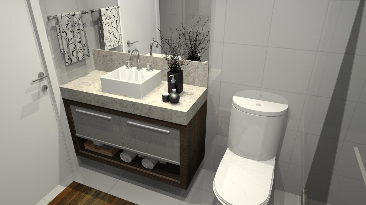 banheiro sob medida pequeno 4  Banho  Pinterest  Sob medida, Banheiros e G -> Armario De Banheiro Amadeirado