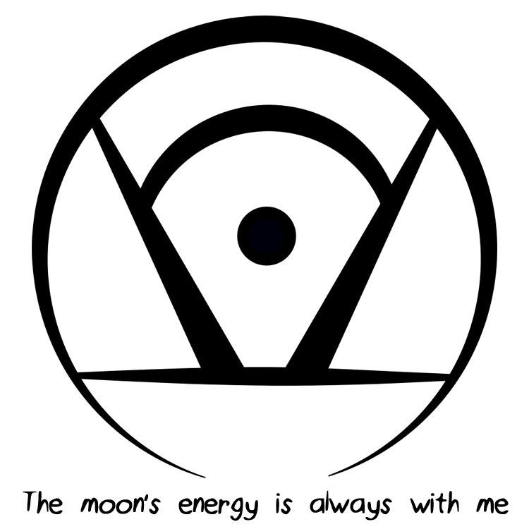 """The moon's energy is always with me"" sigil requested by"