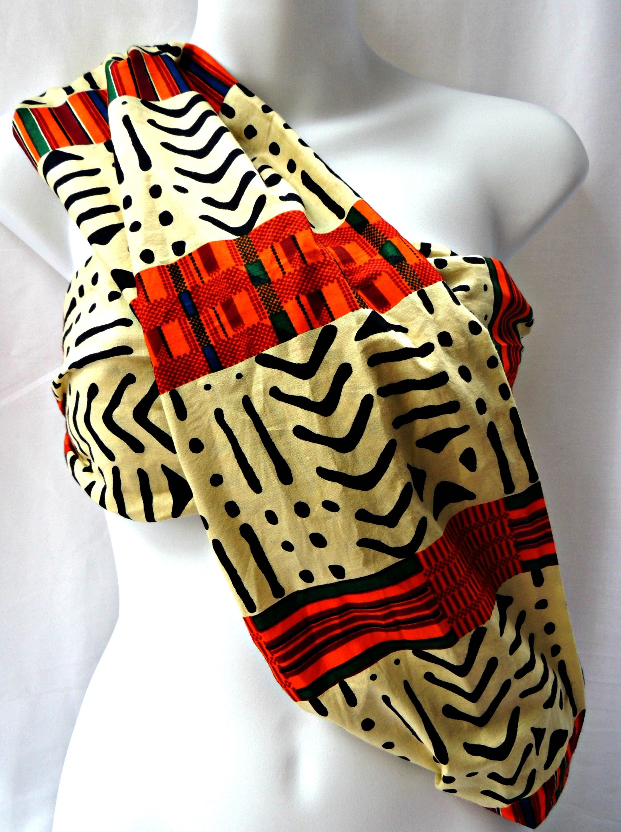 Back in stock! Shop this popular infinity scarf in my #etsyshop. Link below :) #kente