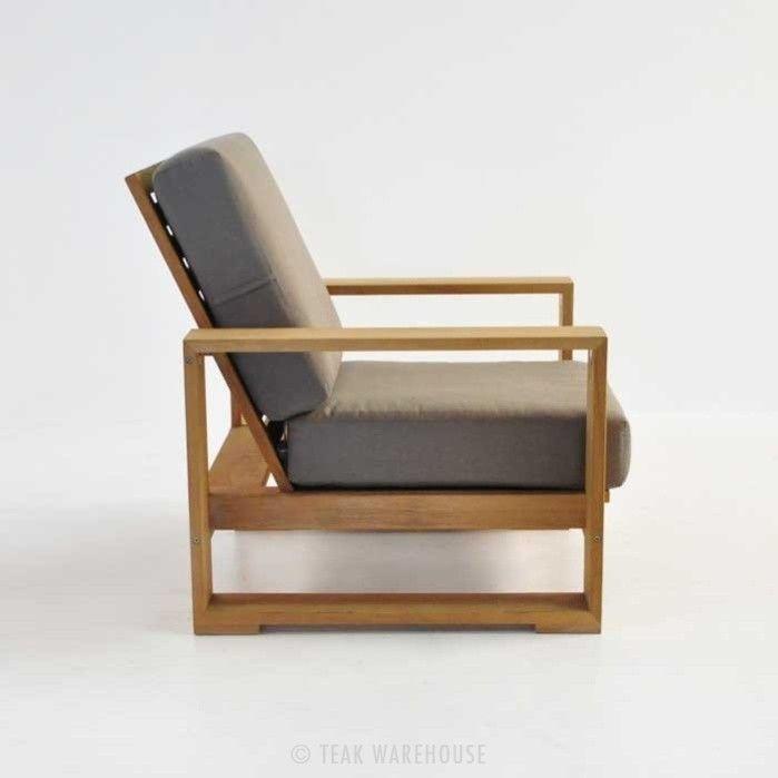 Havana Teak Outdoor Club Chair Side View Modern Outdoor Chairs Lounge Chair Outdoor Patio Lounge Chairs