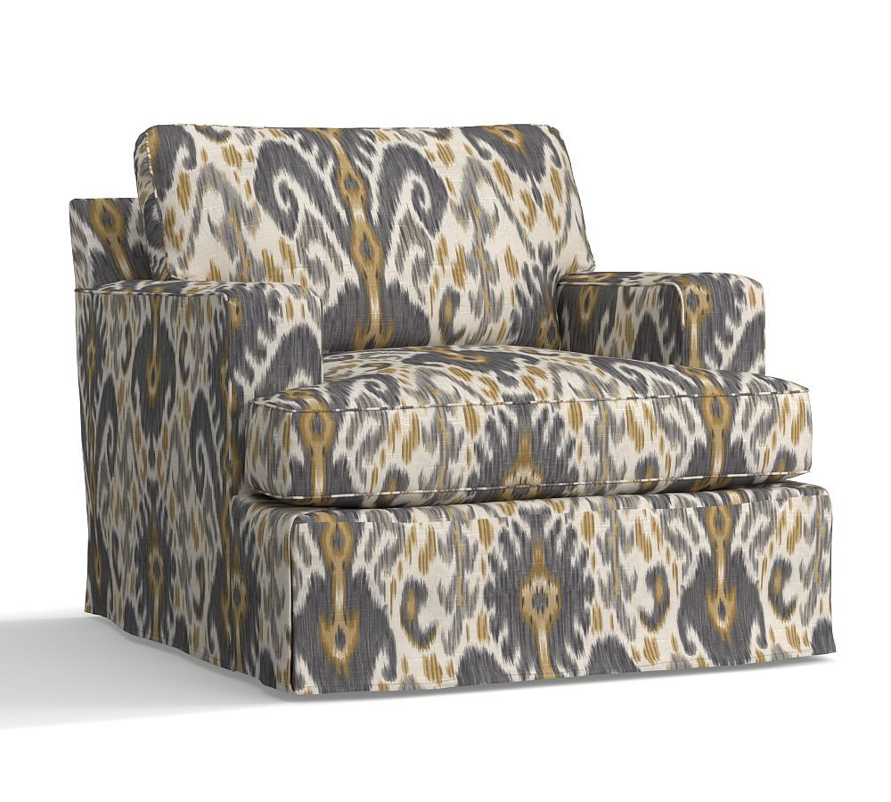 Awe Inspiring Townsend Square Arm Sofa Slipcover Performance Alphanode Cool Chair Designs And Ideas Alphanodeonline
