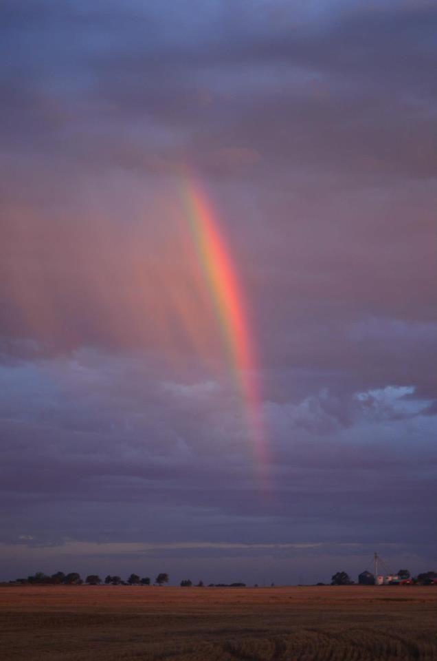rainbow - near Erick, OK photo by Lorie Annabelle Skyes