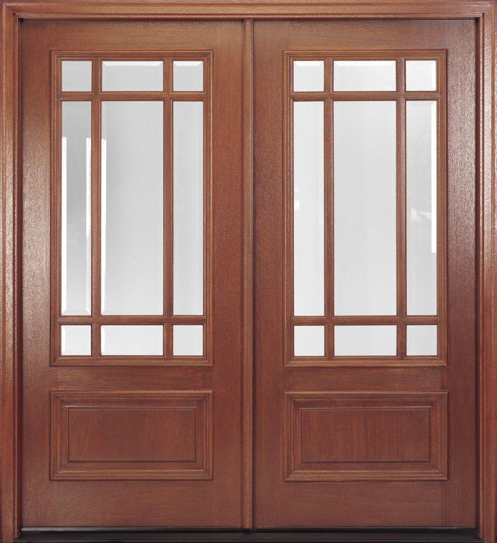Mahogany door features true ided lites with clear beveled IG & Delta True Divided Lite. Mahogany door features true ided lites ...