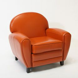 Awe Inspiring Oversized Burnt Orange Leather Club Chair Looks Like Pdpeps Interior Chair Design Pdpepsorg