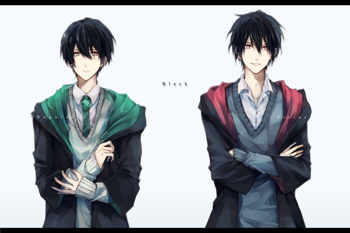 Tags: Fanart, Harry Potter, Sirius Black, Regulus Black