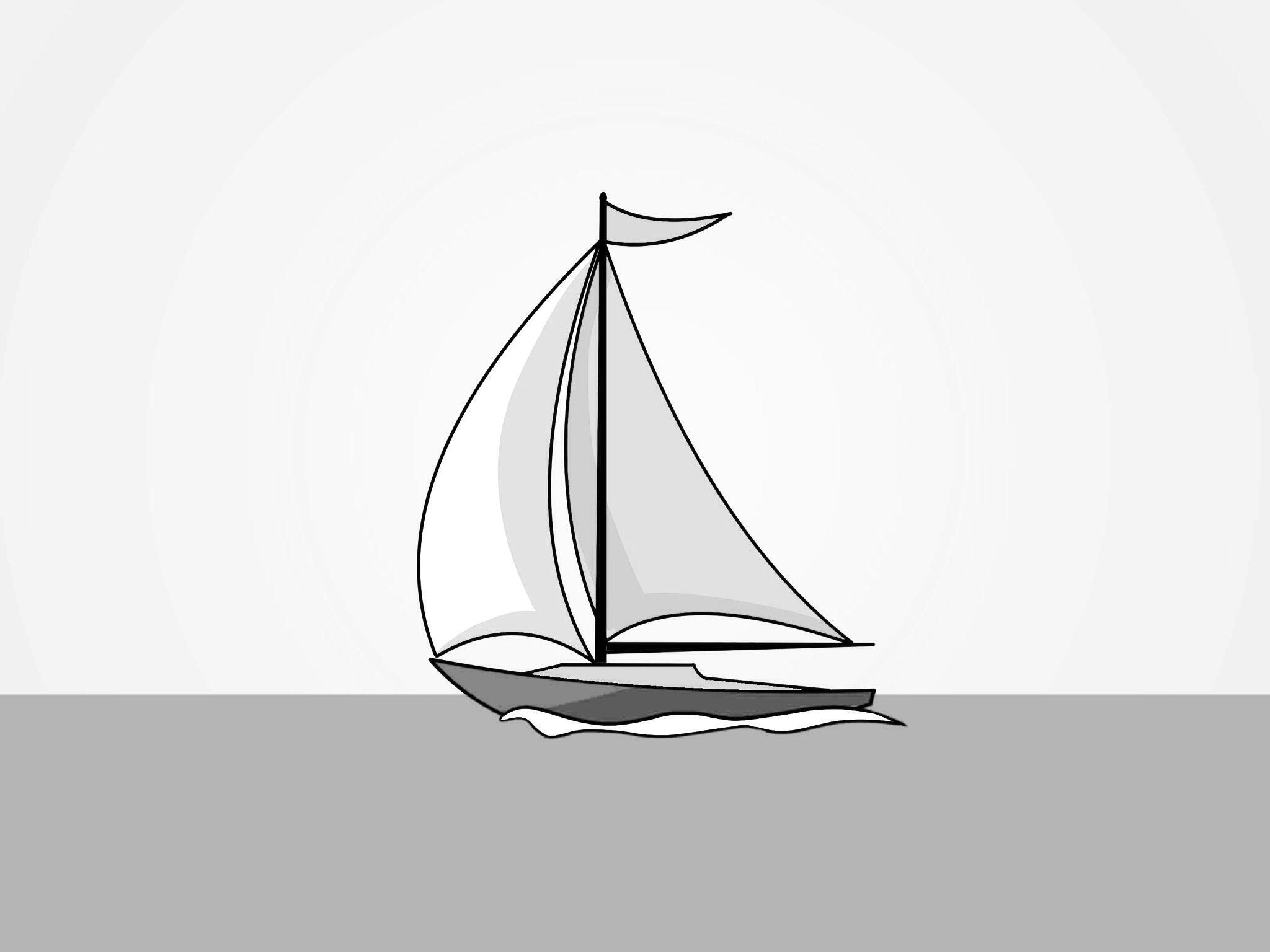 рисунок яхта в море карандашом хотите подсветить