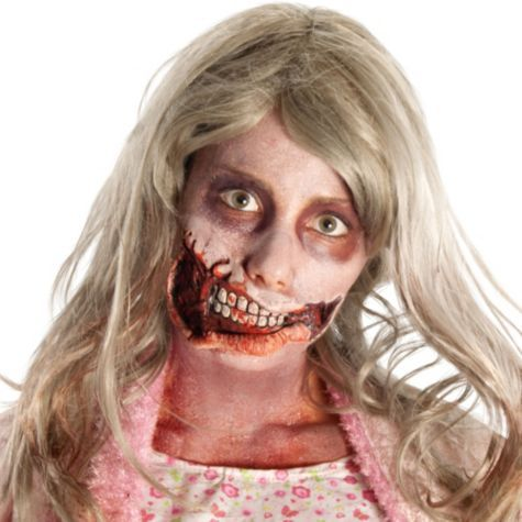 Walking Dead Girl Mouth Prosthetic Makeup Kit - Party City ...