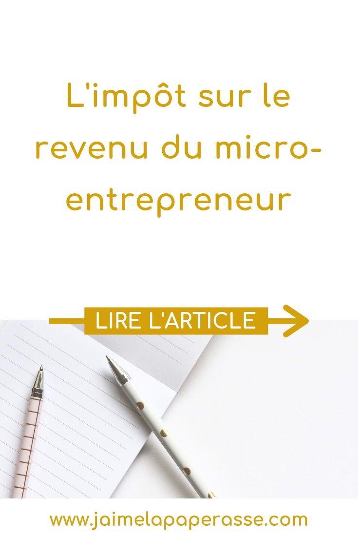 L Impot Sur Le Revenu En Micro Entreprise Auto