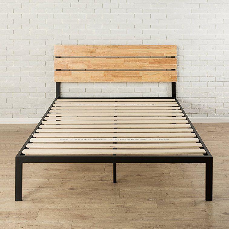 Amazon Com Zinus Sonoma Metal Amp Wood Platform Bed With