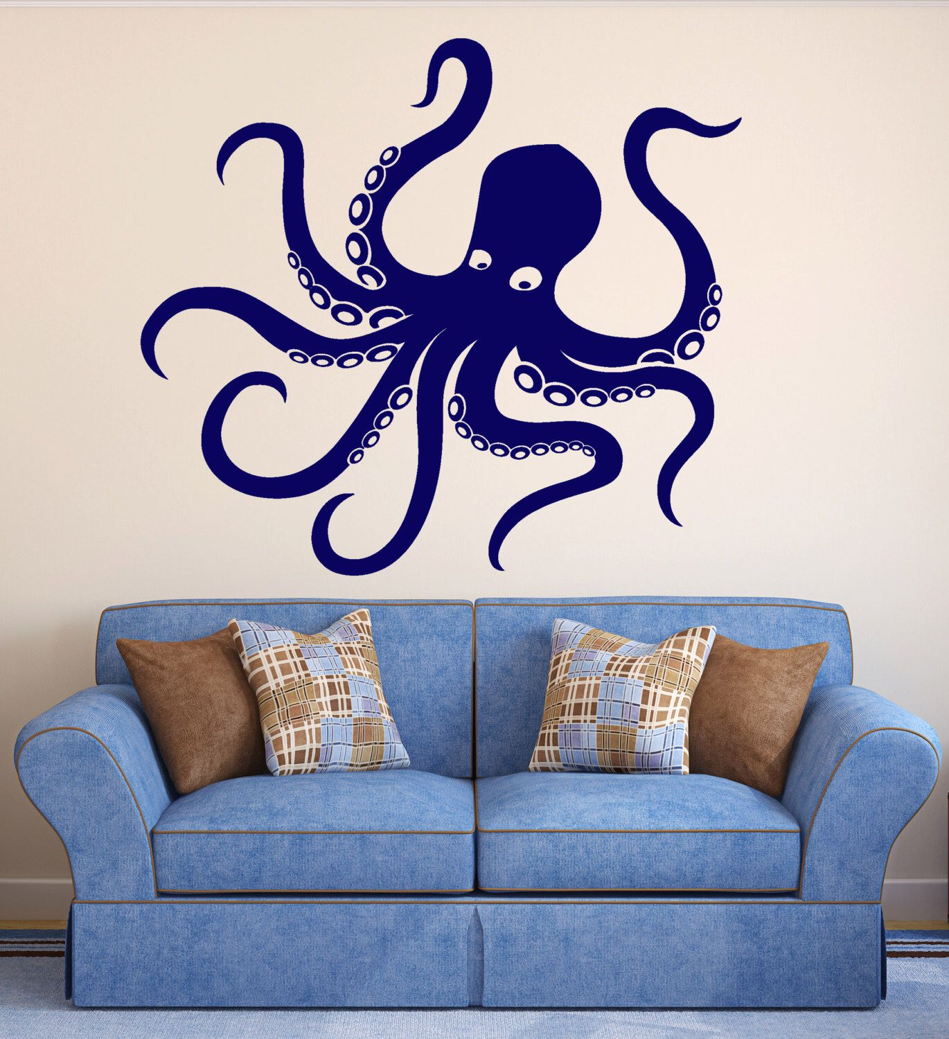 Vinyl Wall Decal Octopus Tentacles Marine Animal Sea Decor - Wall decals on furniture