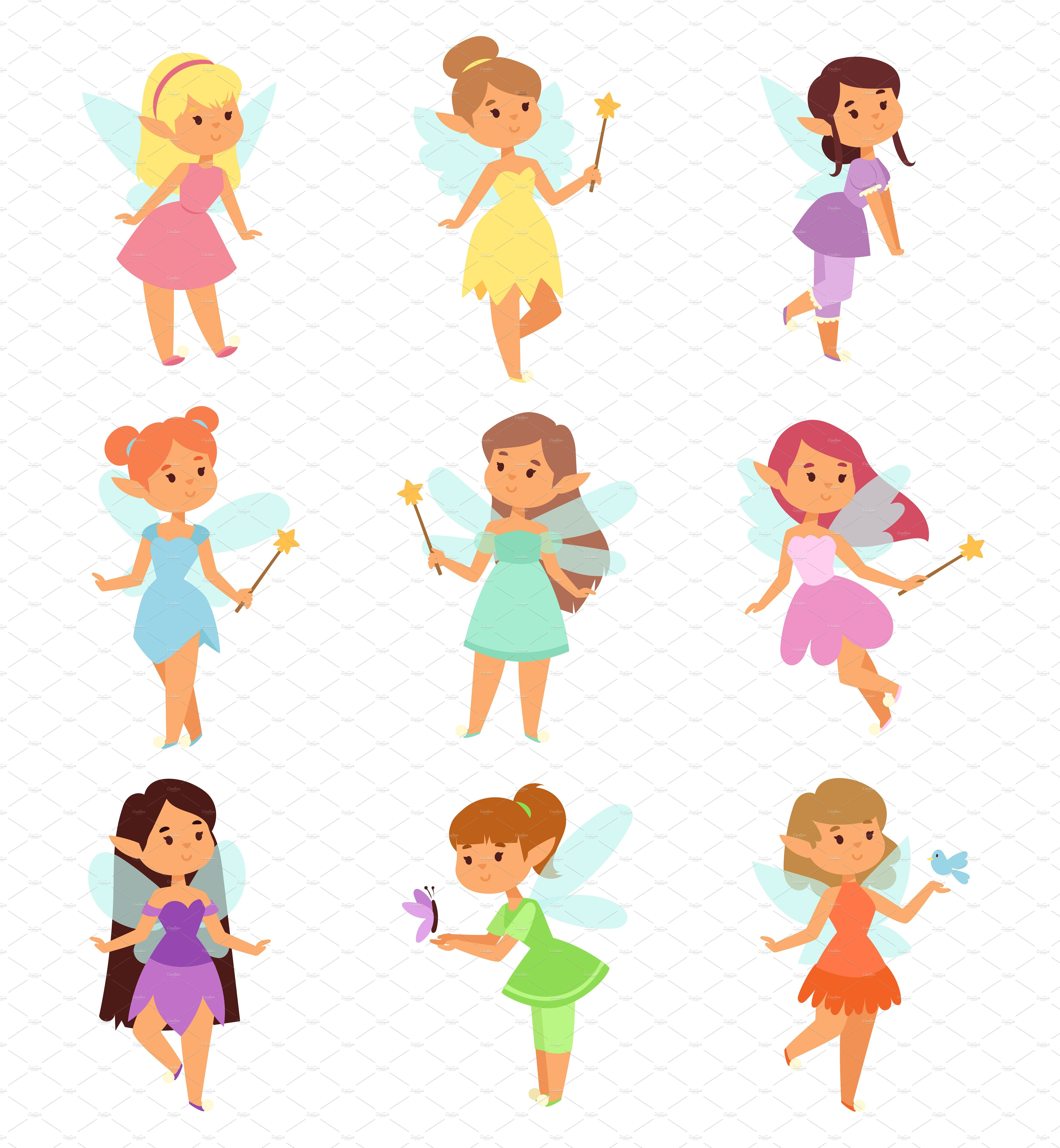 Princesses Fairy Vector Fairy Cartoon Princess Illustration Vector Character