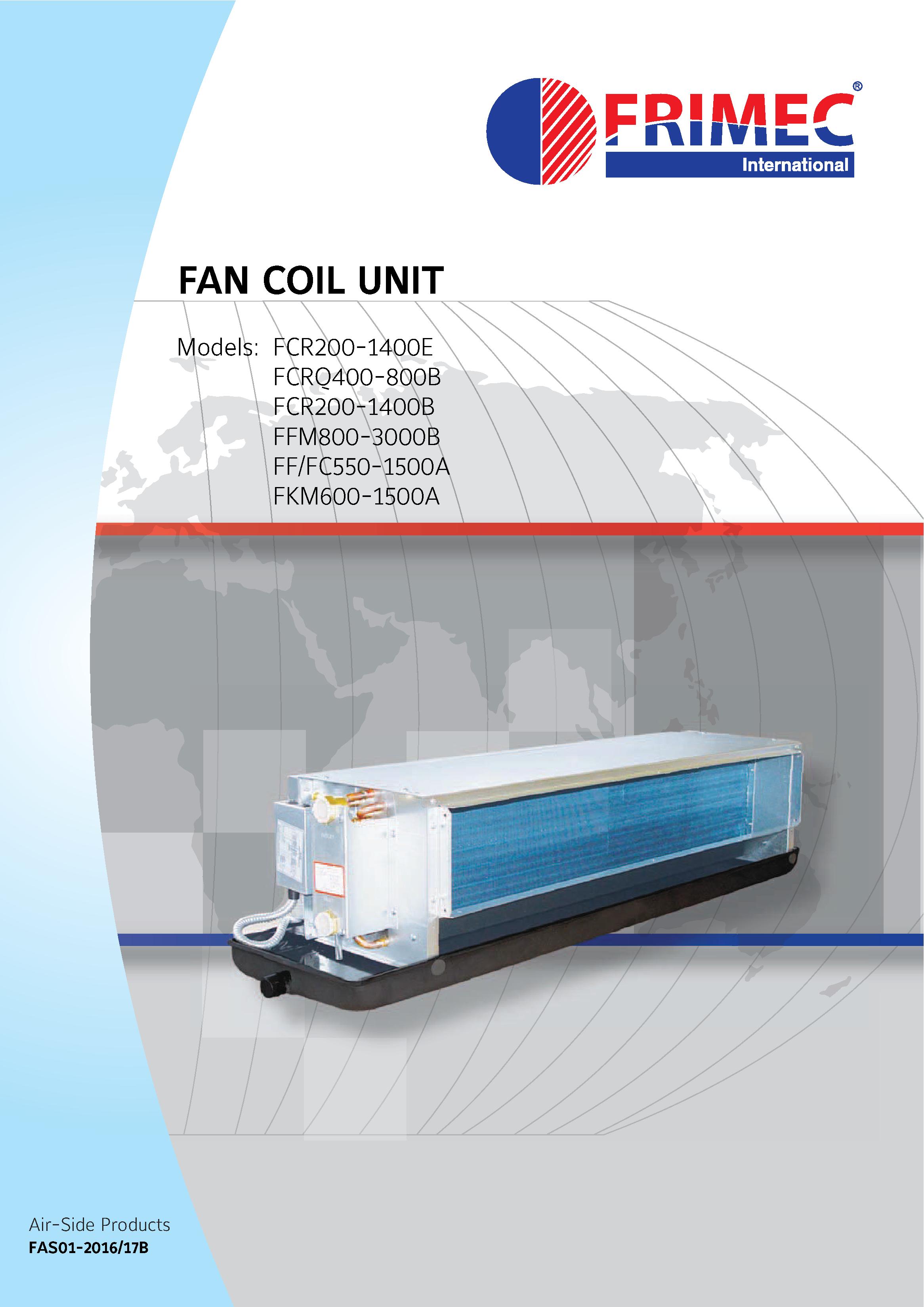 Air Conditioner Fan Coil Unit Frimec capacity 2 Hp 6 HP