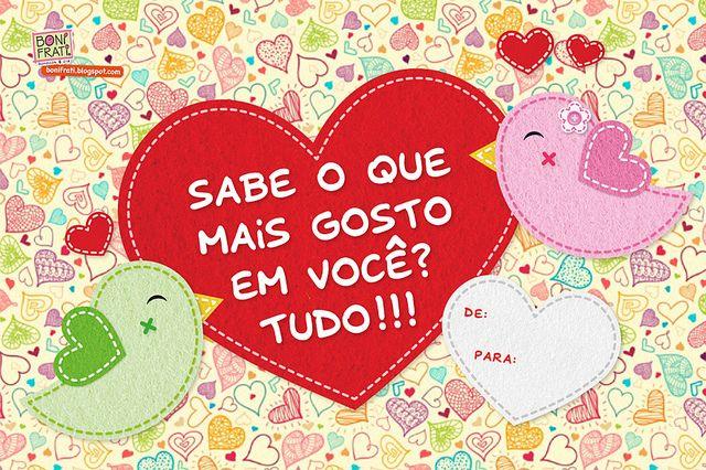 Cartão Dia Dos Namorados Para Imprimir Fondos Frases