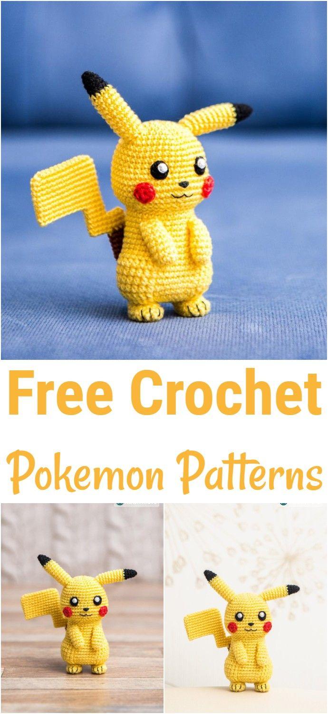12 Free Pokemon Go Amigurumi Crochet Patterns | Projetos de crochê ... | 1500x690