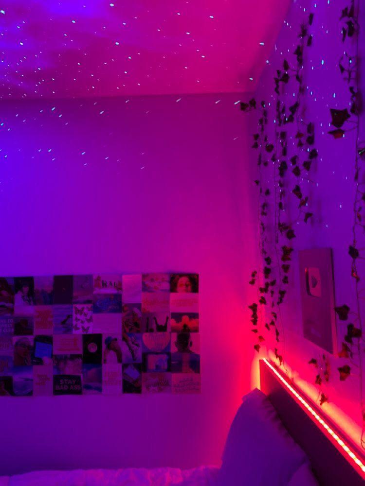 Led Aesthetic Bedroom Pinterest Room Decor Aesthetic Bedroom Dreamy Room