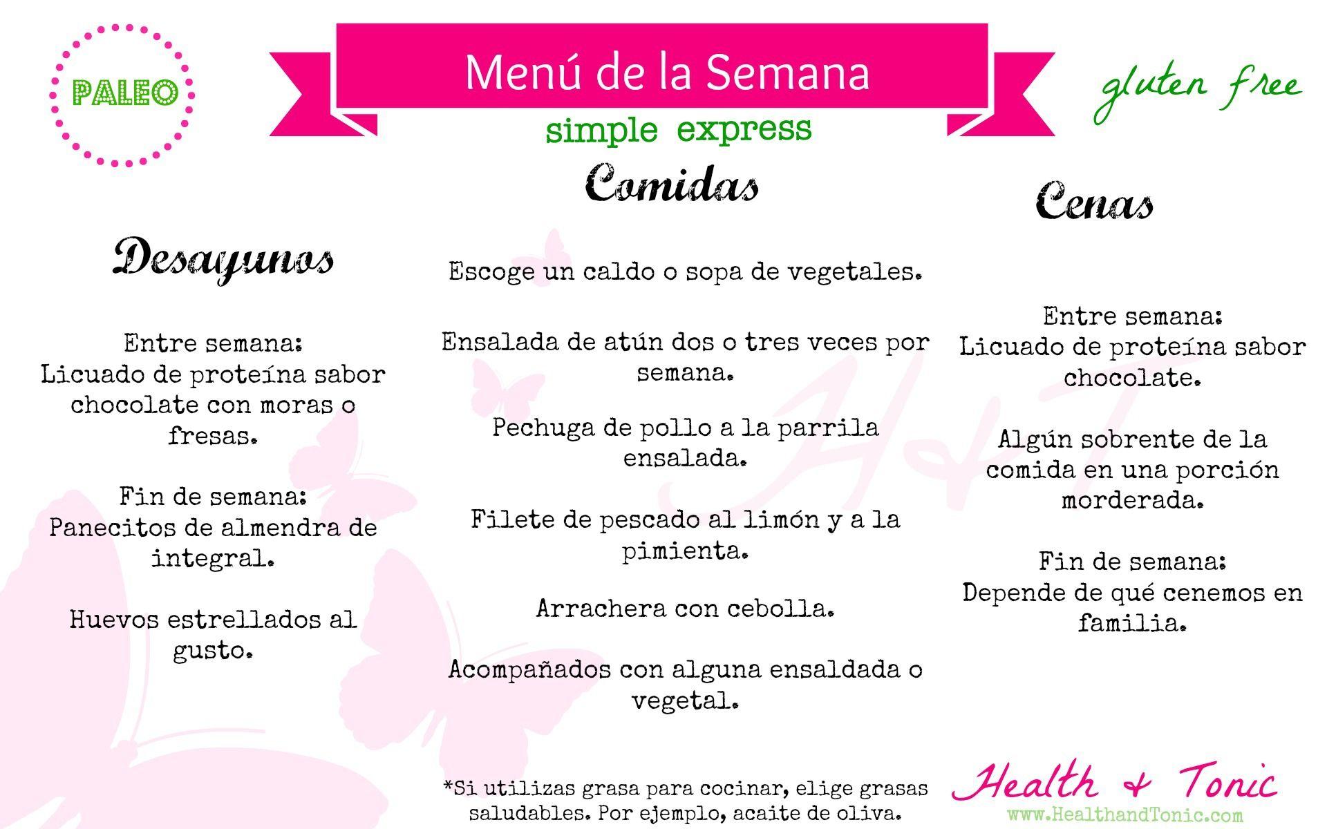 dieta paleolitica ejemplo menu
