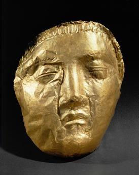 Funery Mask in Gold / SculptureArt phénicien, 6e–4e siècle av. J.–C. Sidon