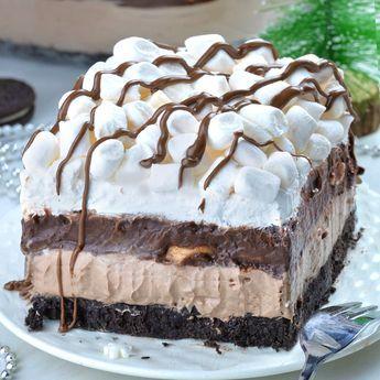 Hot Chocolate Lasagna - completely no bake recipe!