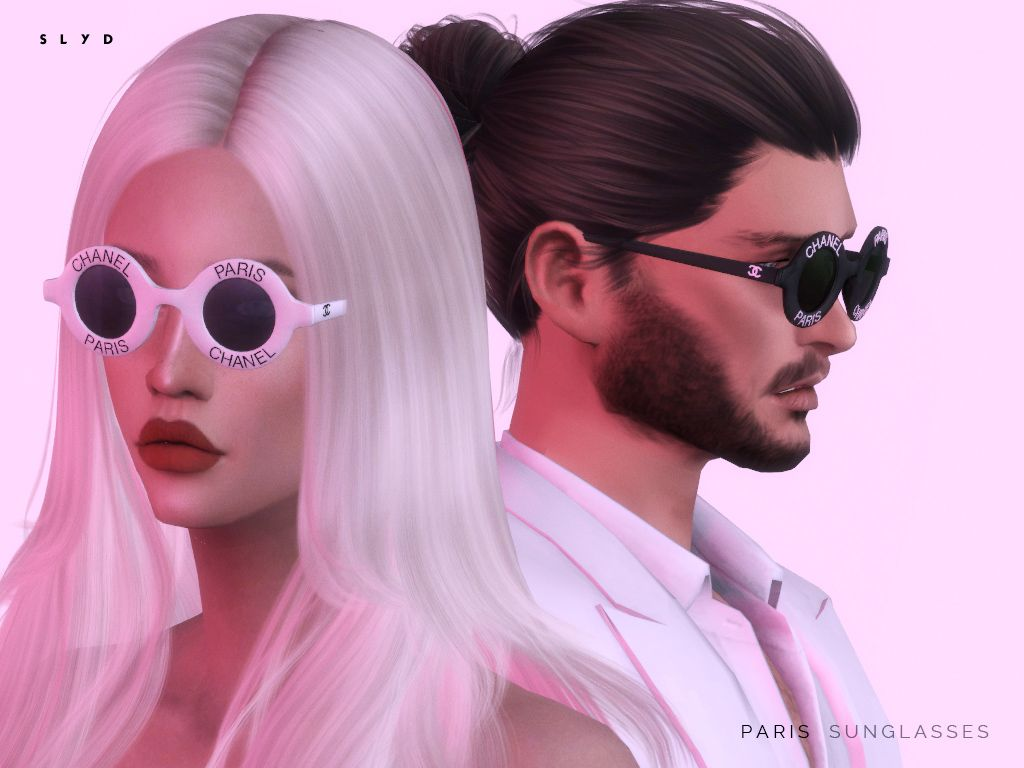 The sims 4 hair accessories - Accessories Paris Sunglasses By Slyd From The Sims Resource