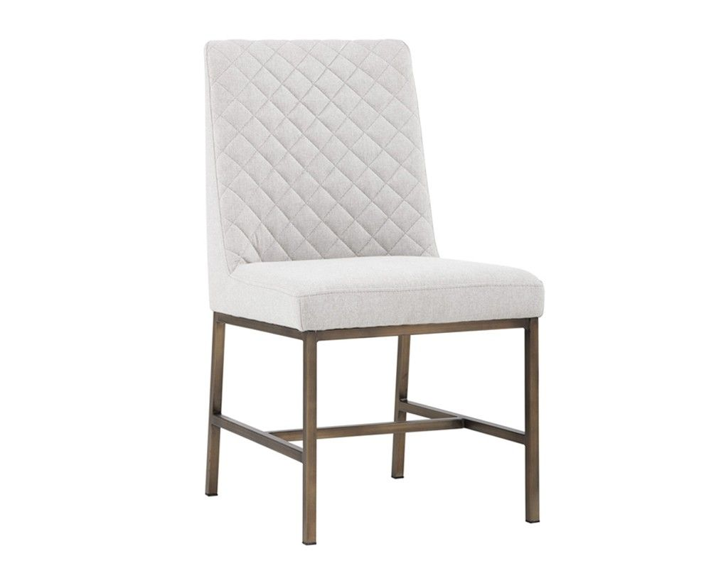 Modern Grey Fabric Dining Chairs: LEIGHLAND DINING CHAIR