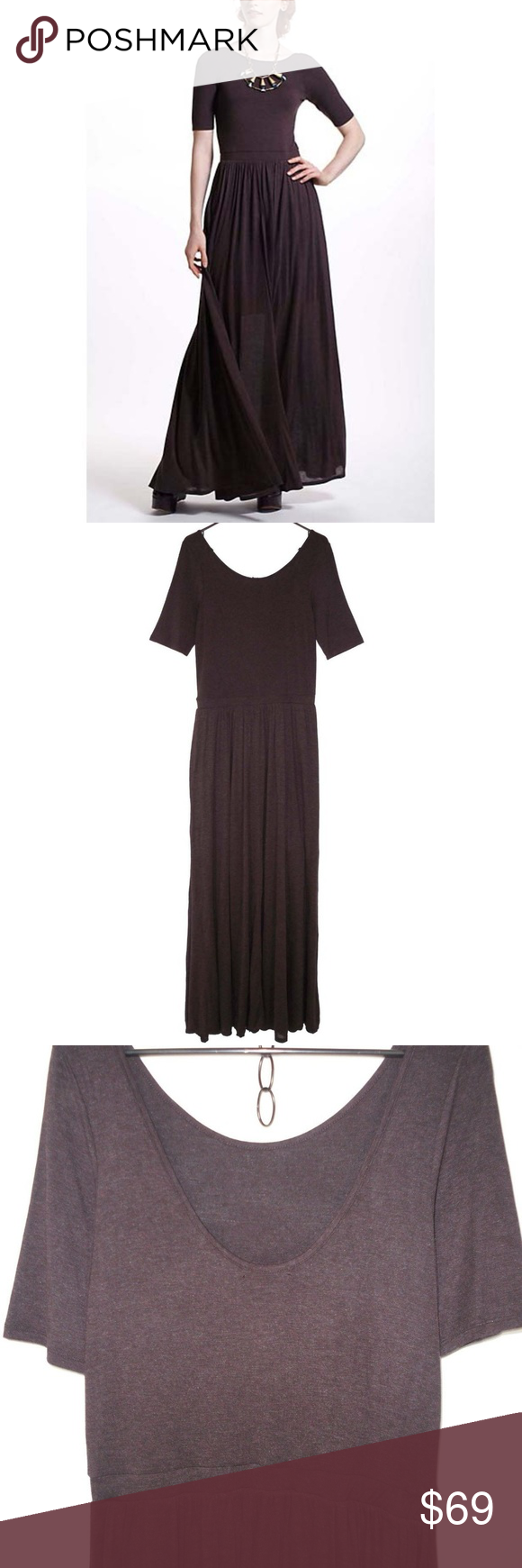 ac919b9c4d766 Bordeaux Anthropologie Scoopback Maxi Dress L Marvelous Scoopback Maxi Dress  from Bordeaux for Anthro. This