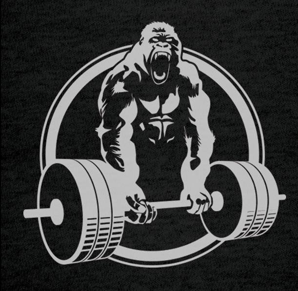 Big Dog musculaire Bulldog personnage Haltérophilie Entraînement Gym Muscle T-Shirt