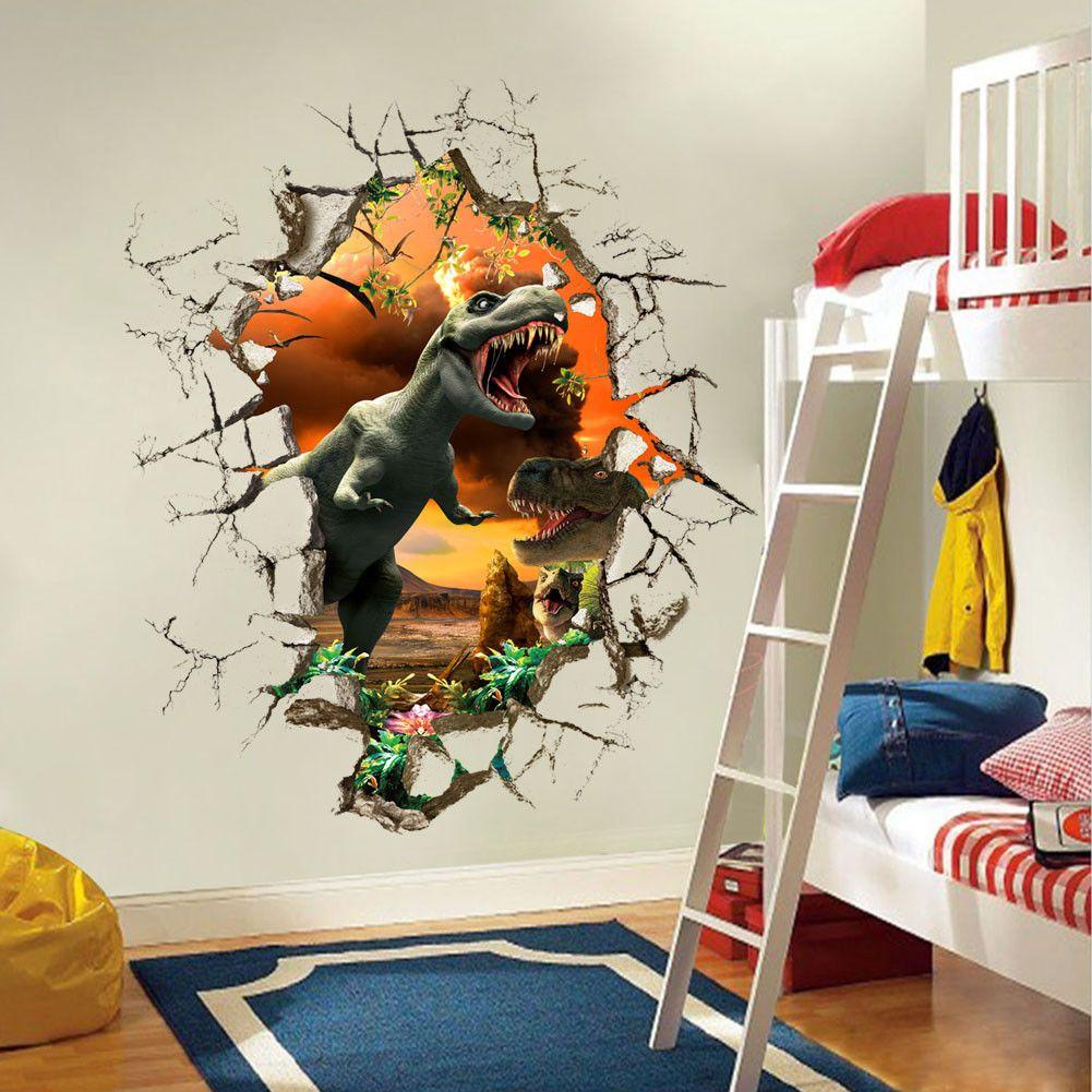 dinosaur wall stickers decals mural art wallpaper decoration for kids room ebay home  garden also rh pinterest