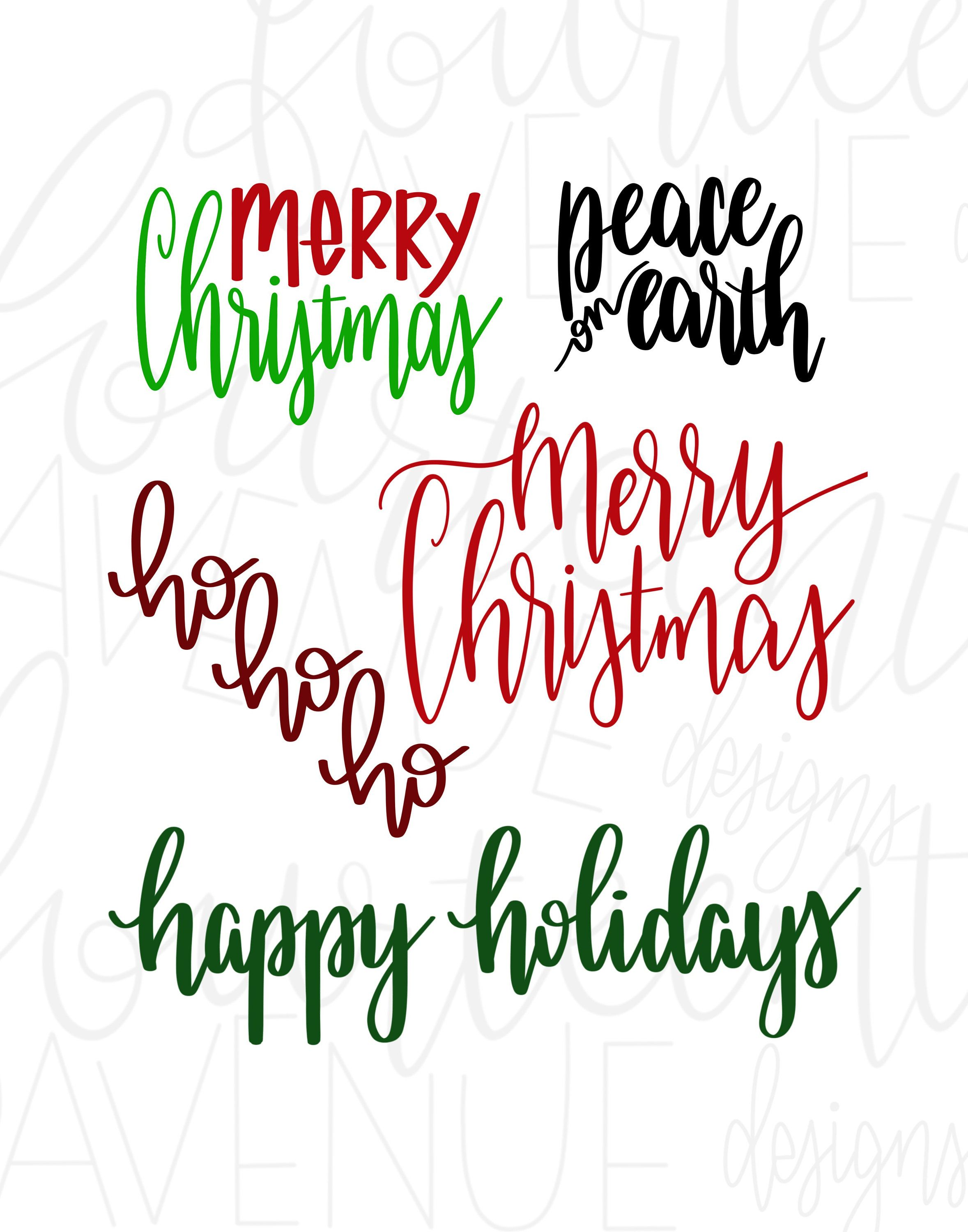 christmas overlays hand lettered holiday overlays christmas card overlays text overlays word - Christmas Overlays