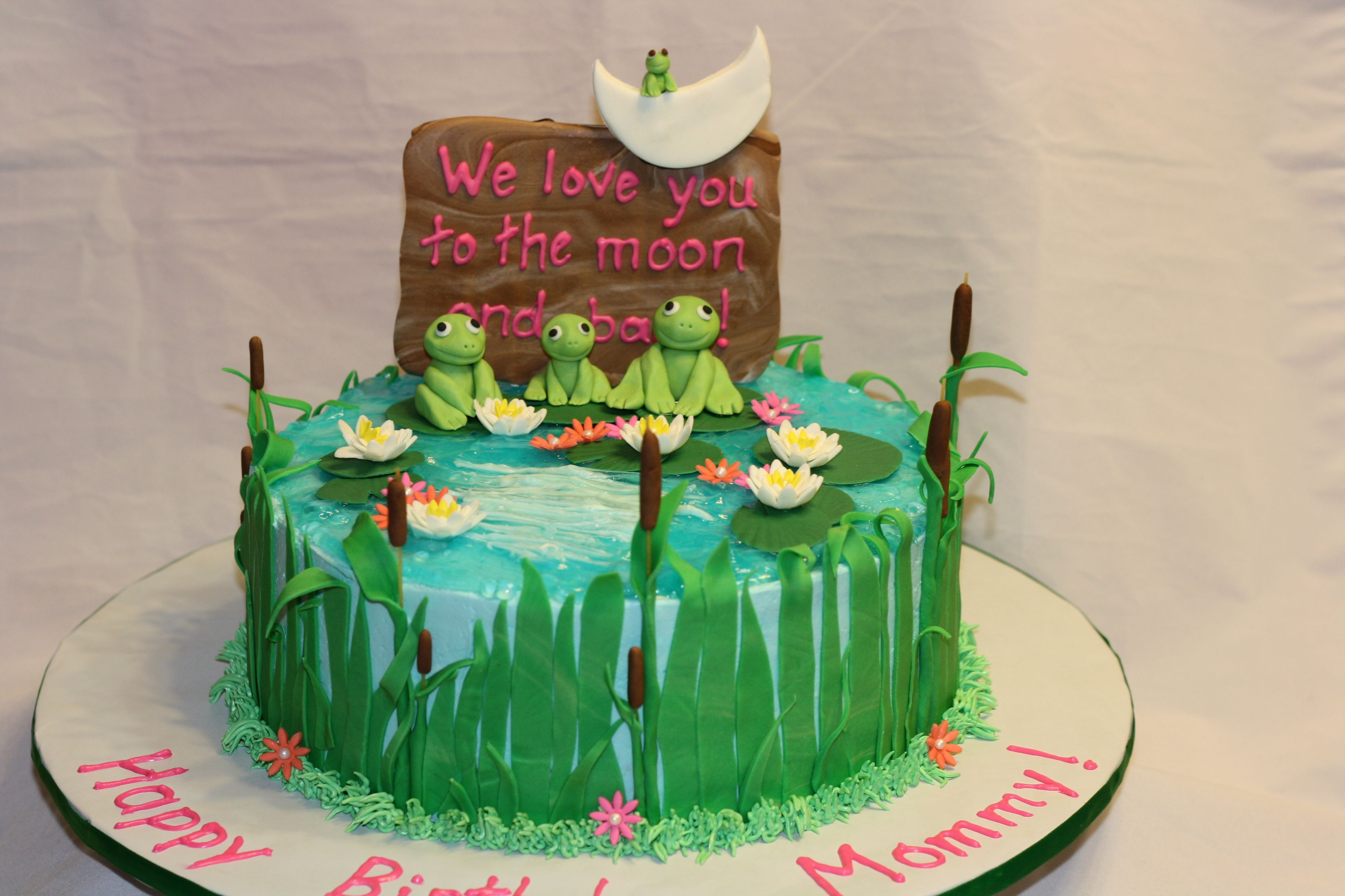 Frog Pond Birthday Cake With Images Frog Cakes Pond Cake Cake
