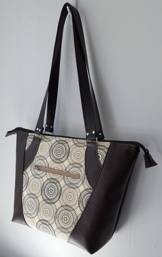 Valley Tote: DIGITAL Sewing Pattern | Taschen | Pinterest | Taschen ...