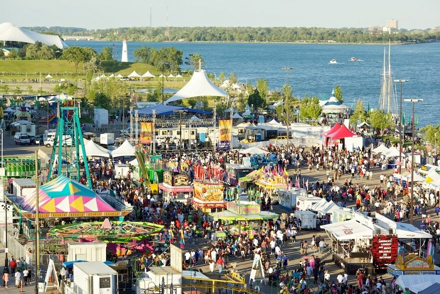 Detroits river days festival adds zip lines air show to