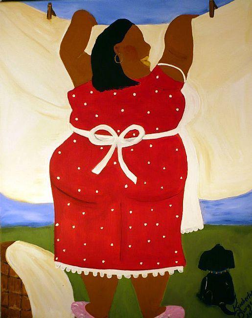 Big Mama S Laundry Day Kimberly Burgess African American Art Black Women Art Art