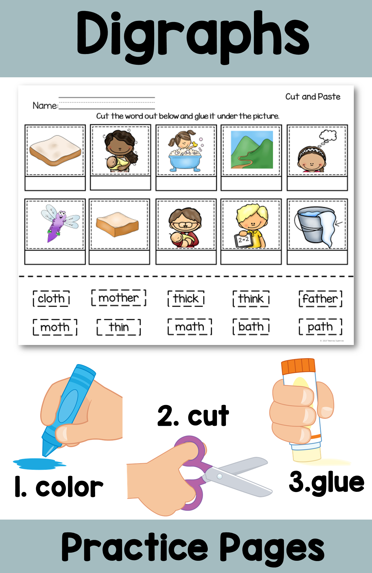 Digraphs Th Beginning And Ending Sounds